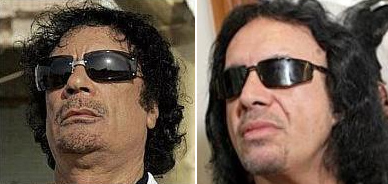 Gadhafi to replace KISS bass player Gene Simmons.